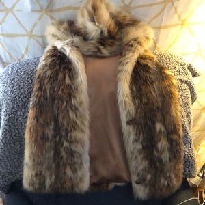 Fabulous Furs Red Fox Faux Fur Hook Vest XS